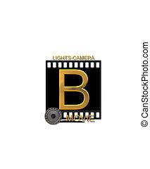 Alphabet Movie Bluff B - The letter B, in the alphabet set...