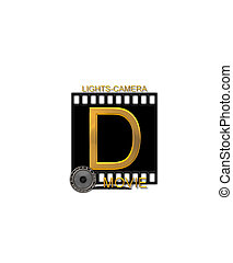 Alphabet Movie Bluff D - The letter D, in the alphabet set...