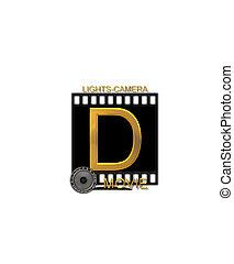 Alphabet Movie Bluff D - The letter D, in the alphabet set...