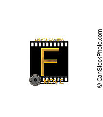 Alphabet Movie Bluff F - The letter F, in the alphabet set...