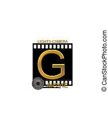 Alphabet Movie Bluff G - The letter G, in the alphabet set...