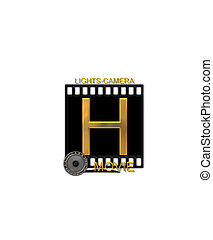 Alphabet Movie Bluff H - The letter H, in the alphabet set...