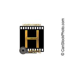 Alphabet Movie Bluff H - The letter H, in the alphabet set...