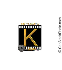 Alphabet Movie Bluff K - The letter K, in the alphabet set...