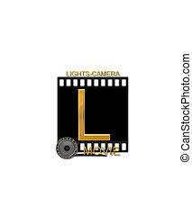 Alphabet Movie Bluff L - The letter L, in the alphabet set...