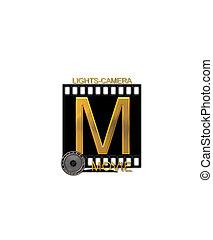 Alphabet Movie Bluff M - The letter M, in the alphabet set...