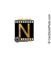 Alphabet Movie Bluff N - The letter N, in the alphabet set...