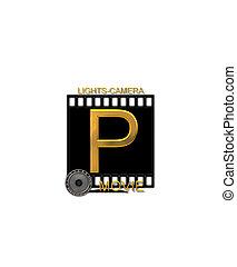 Alphabet Movie Bluff P - The letter P, in the alphabet set...