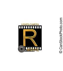 Alphabet Movie Bluff R - The letter R, in the alphabet set...