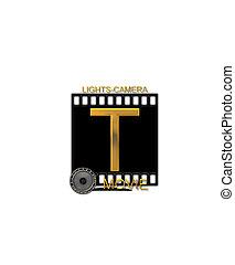 Alphabet Movie Bluff T - The letter T, in the alphabet set...