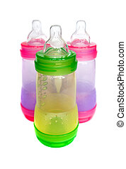 Baby bottles - BPA-free multicolor baby bottles for infant...