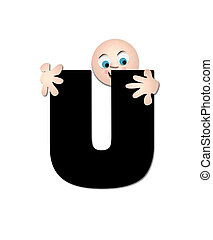Alphabet Happy U - The letter U, in the alphabet set...