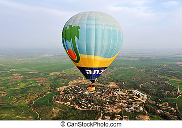 Hot Air Balloon Show - SOUTH ISRAEL - MARCH 4 2010: Hot air...