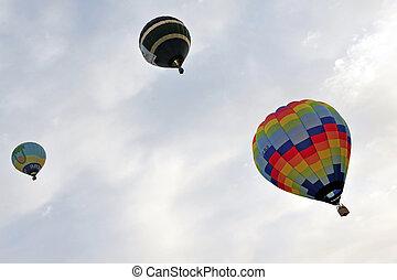 Hot Air Balloon Show - SOUTH ISRAEL - MARCH 5 2010: Hot air...