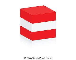 austrian flag on box