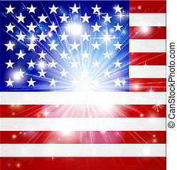American flag background - Flag of America background with...