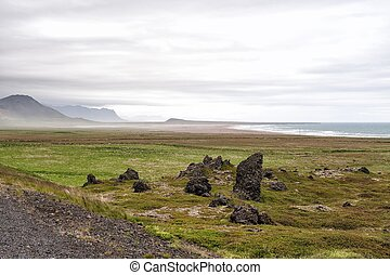 Volcanic rocks at Snaefellsnes, Iceland