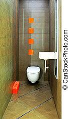 Brown toilet