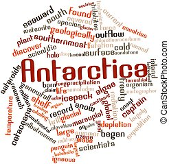 Antarctica - Abstract word cloud for Antarctica with related...