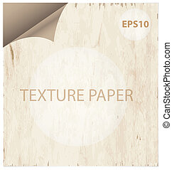 texture paper curl vitage style background isolated
