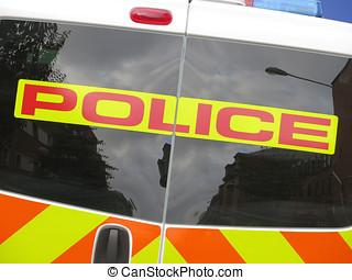 Police van sign