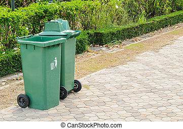 Plastic Waste Container - Green Plastic Waste Container In...