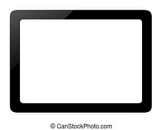 modern tablet - computer tablet with white screen background