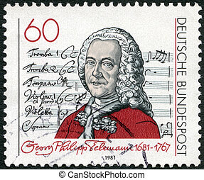 GERMANY - CIRCA 1981: A stamp printed in Germany shows Georg...