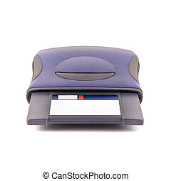 zip drive   - zip drive isolated on white.