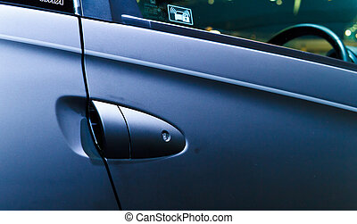 Car's door handle - Black sport car's door handle.