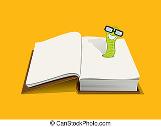 Smiling book worm