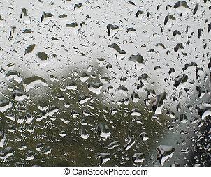 rain drops in a window