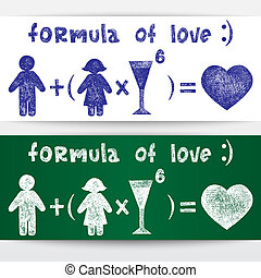 Formula of love - Sketchy illustration Formula of love