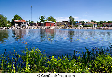 Stromsnasbruk Sweden - Lake in Stromsnasbruk. Sweden, Europe...