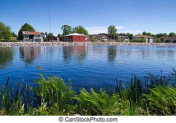 Stromsnasbruk Sweden - Lake in Stromsnasbruk. Sweden, Europe...