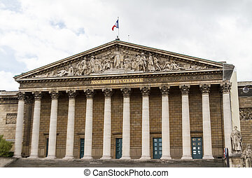 Assemblee Nationale Palais Bourbon - the French Parliament...