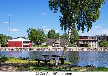 Stromsnasbruk, Sweden - Lake in Stromsnasbruk. Sweden,...