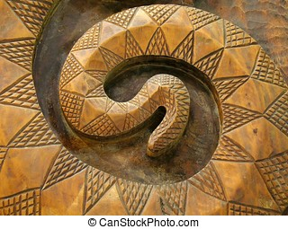Wooden Snake - -- this is a common pattern among Taiwan\\\'s...