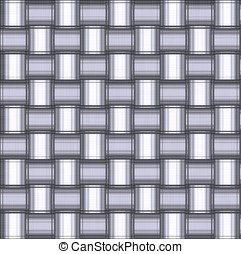 Metallic Crisscross - -- abstract background made from...