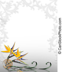Bird of Paradise Border - Illustration and image composition...