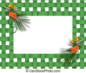 Tropical Frame Luau - Image and illustration composition for...