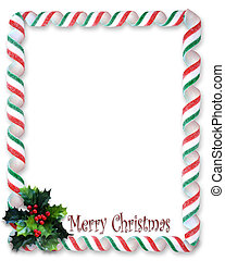 Christmas Candy Frame - Image and illustration composition...