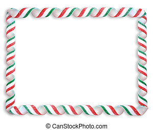 Christmas Candy Border - Image and illustration composition...
