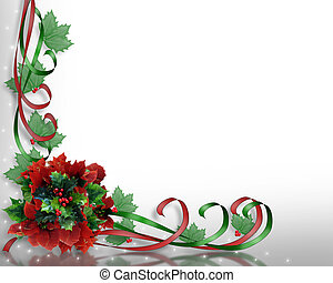 Christmas flowers Corner - Image and illustration...