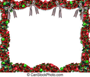 Christmas Garland Border - Image and illustration...