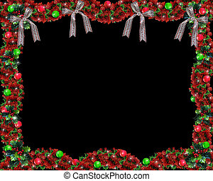 Christmas Garland Black - Image and illustration composition...