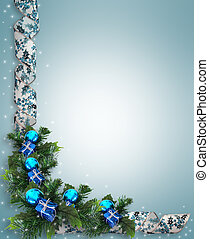 Christmas or Hanukkah - Image and digital illustration...