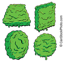 Slimey Shapes - A collection of 4 slimey shapes for use as...