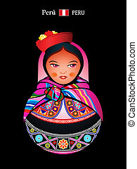 Matryoshka Peru - Matryoshkas of the World: Quechua indian...