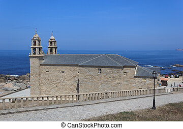 Galician Church - A view of the church of Virxe da Barca -...